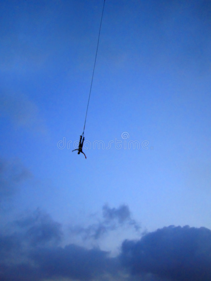 dusk bungee άλμα στοκ φωτογραφίες με δικαίωμα ελεύθερης χρήσης