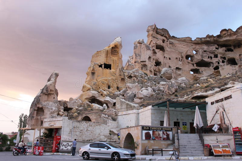 Dusk in Cappadocia stock photos