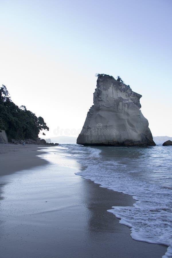 Dusk at Coromandel Cove New Zealand stock image