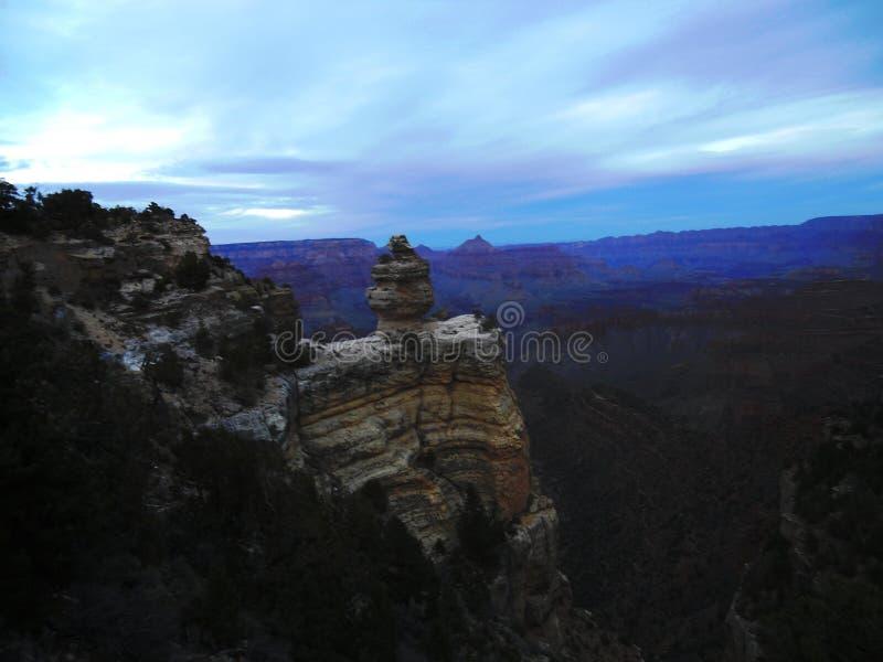 Dusk at the Grand Canyon 001 stock image