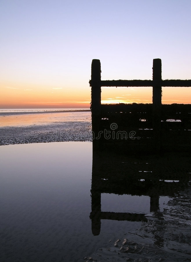 Download Dusk Groyne stock photo. Image of sunset, still, reflection - 7941250
