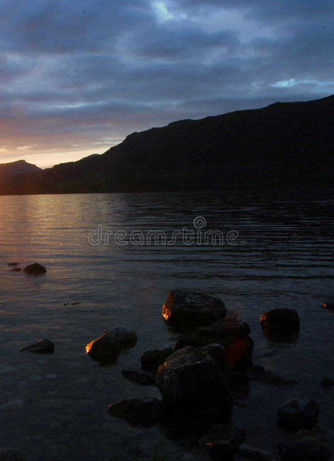 Download Dusk on Loch Maree stock photo. Image of highlands, maree - 48042