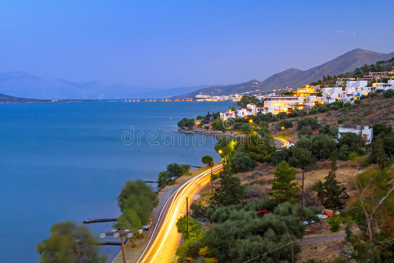 Download Dusk At Mirabello Bay On Crete Stock Image - Image of europe, architecture: 30067397