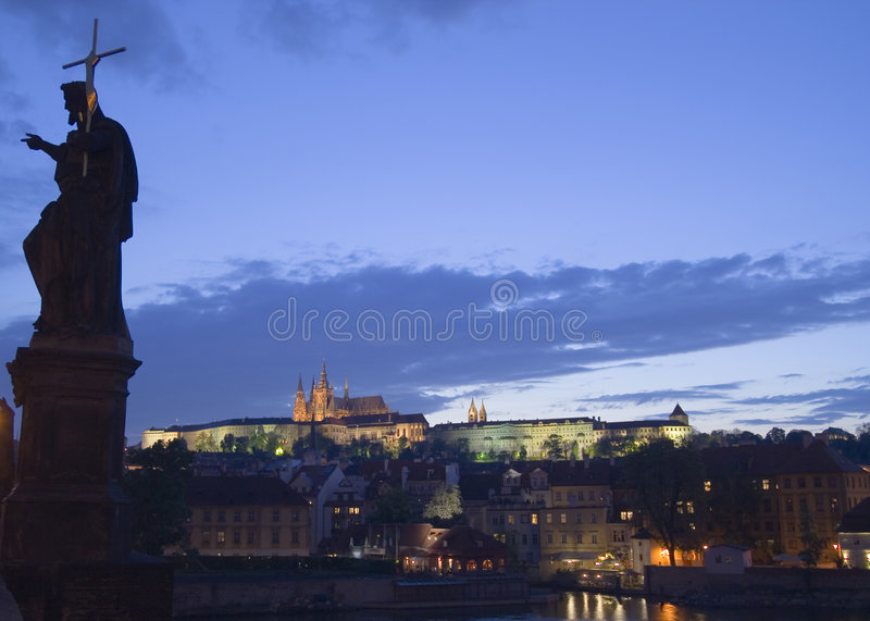 Dusk in Prague royalty free stock photos