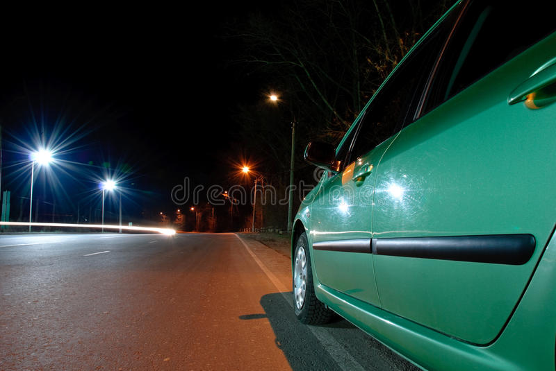Download Dusk road view stock photo. Image of distance, auto, road - 11935108