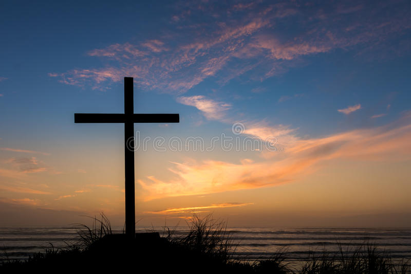 Dusk Sunset Salvation Cross royalty free stock photography
