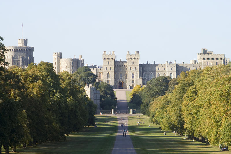 Dusk at Windsor Castle royalty free stock photos