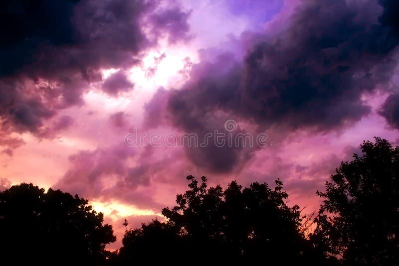 dusky sky royaltyfria bilder