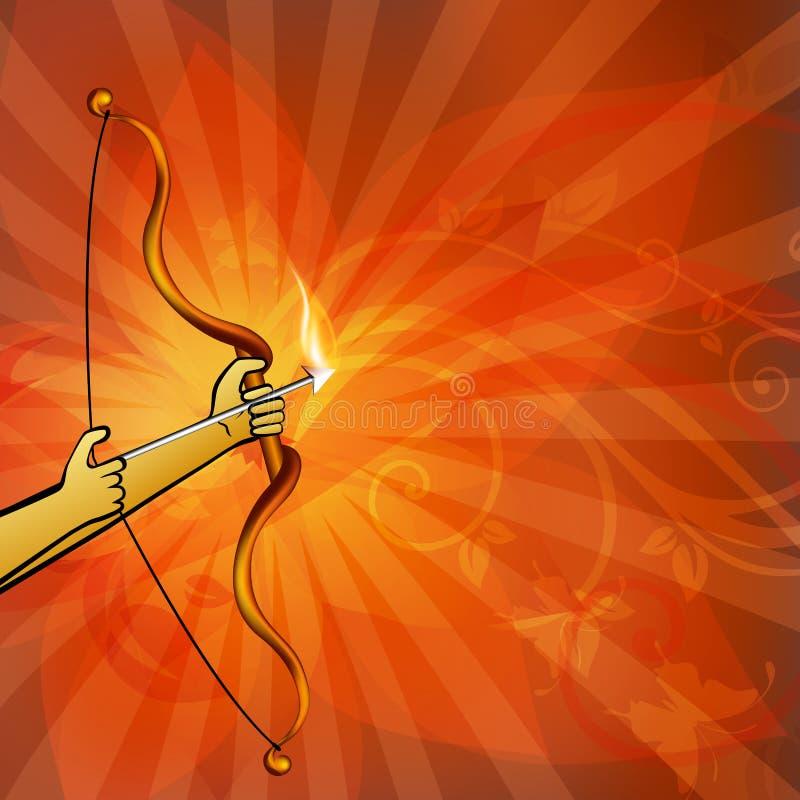 Download Dussehra background. stock vector. Image of indian, king - 26490404