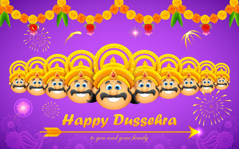 Dussehra heureux illustration stock