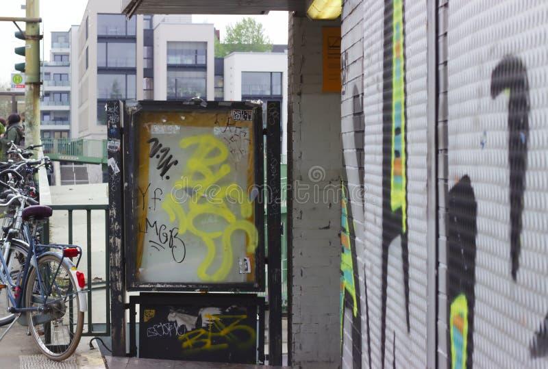 Vandalism in the city stock photo
