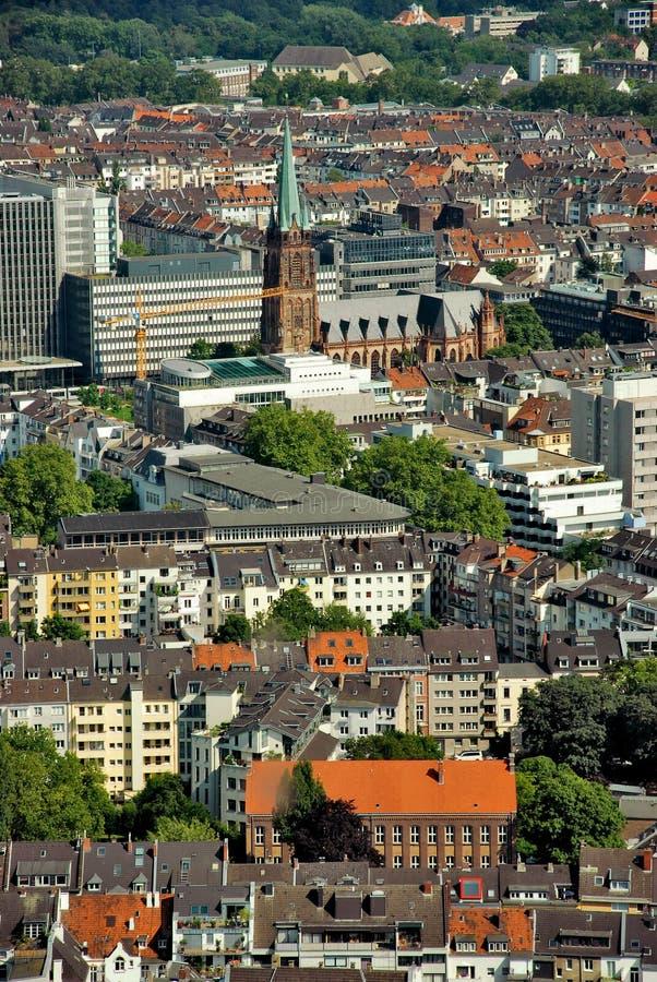 Dusseldorf da sopra fotografie stock libere da diritti