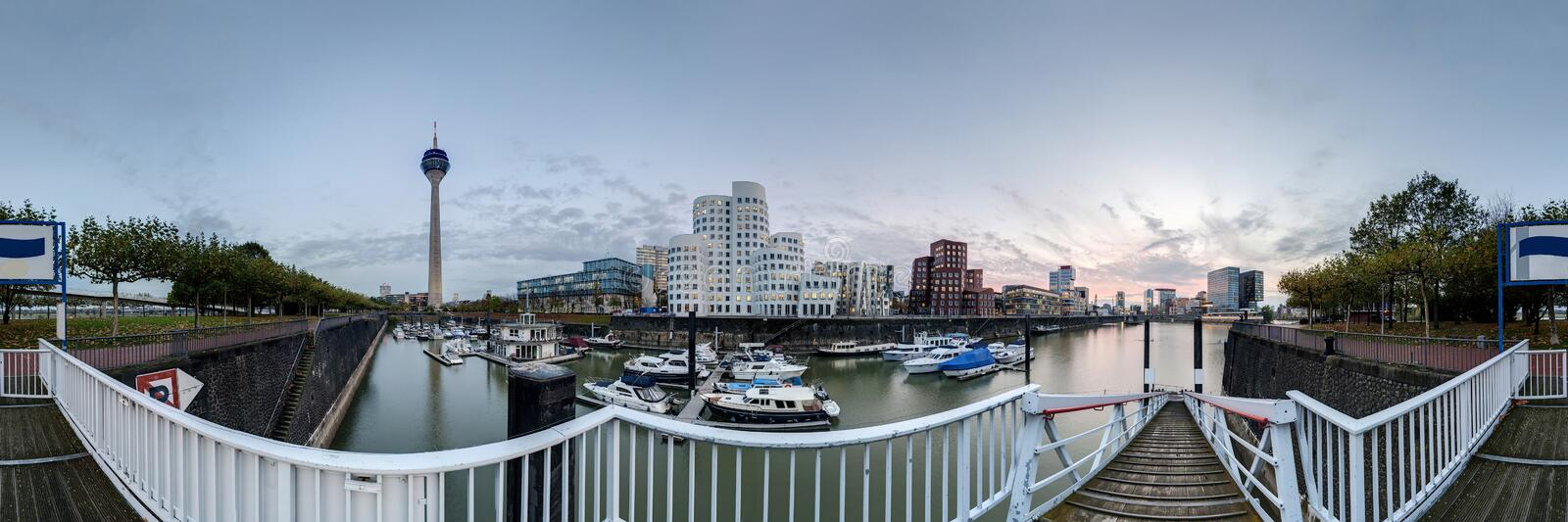 Download Dusseldorf At Dusk Royalty Free Stock Images - Image: 27539919