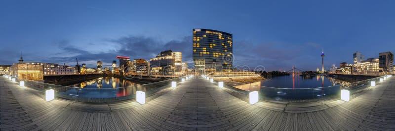 Dusseldorf At Dusk Stock Photography
