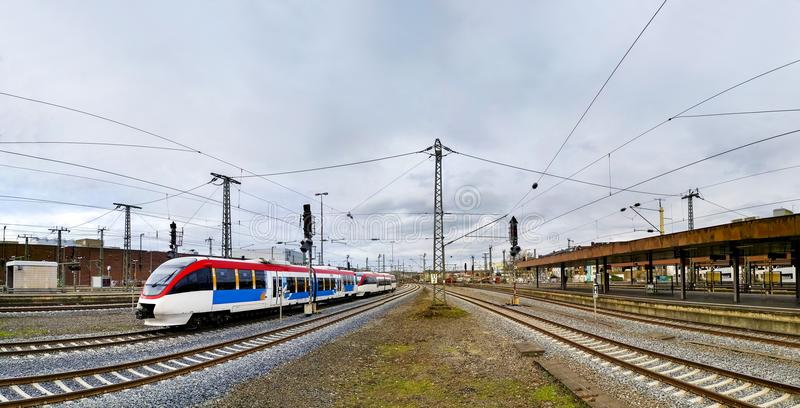 Dusseldorf ist die Hauptstadt des deutschen Staats von Nord-Rhein stockfotografie