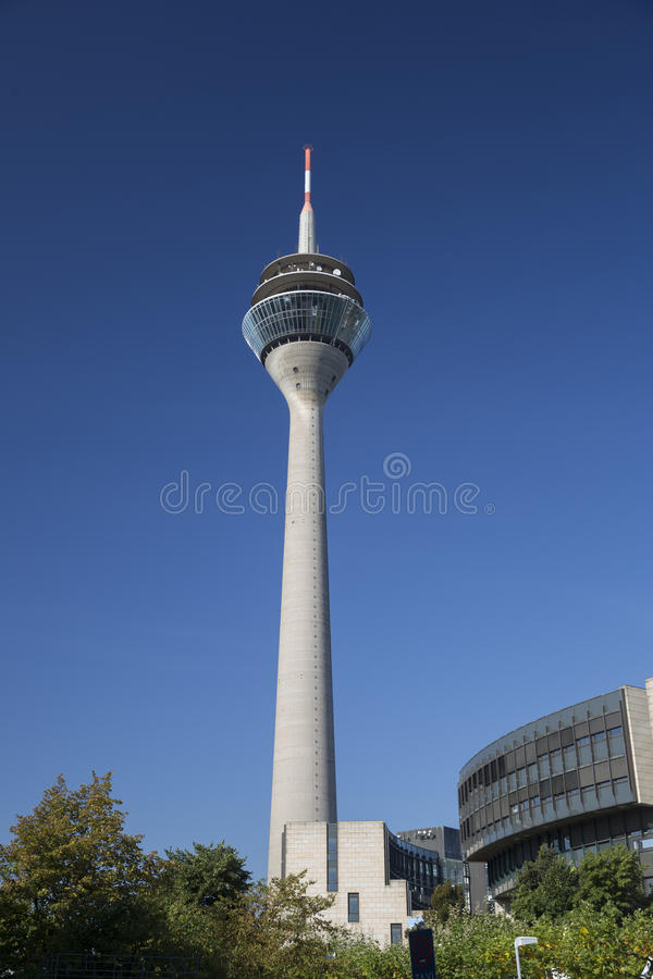 Dusseldorf TV Tower. In Germany stock photography