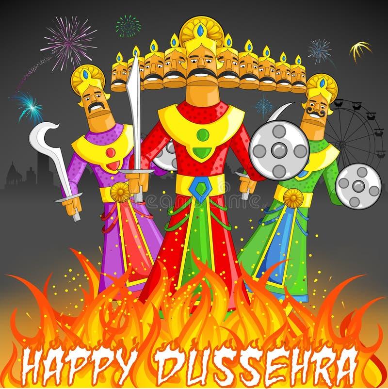 Dusshera Raavan Dahan διανυσματική απεικόνιση