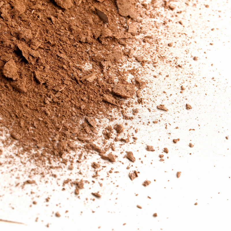 Dust. Of a make-up face powder