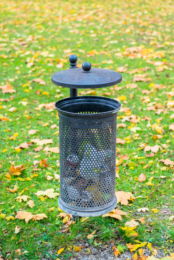 Dust bin. In the park stock photos