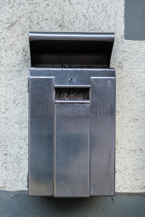 Dust bin in the park royalty free stock image
