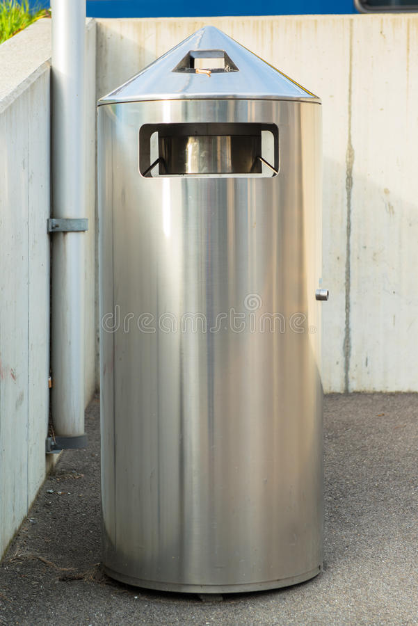 Dust bin in the park stock images