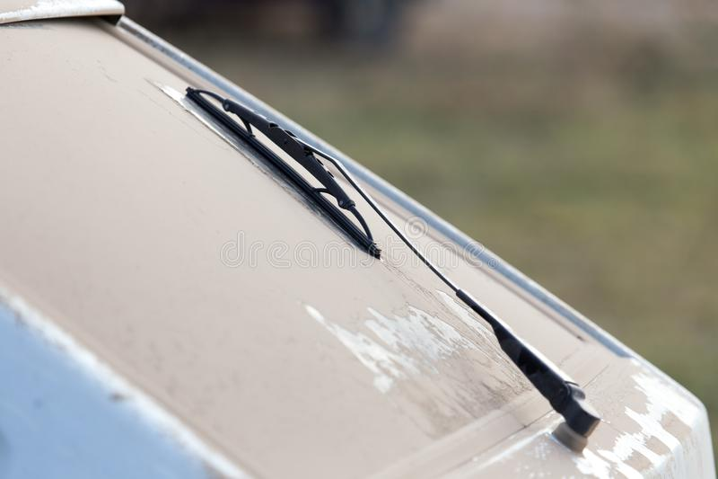 Dust on the cars as a backdrop stock photos
