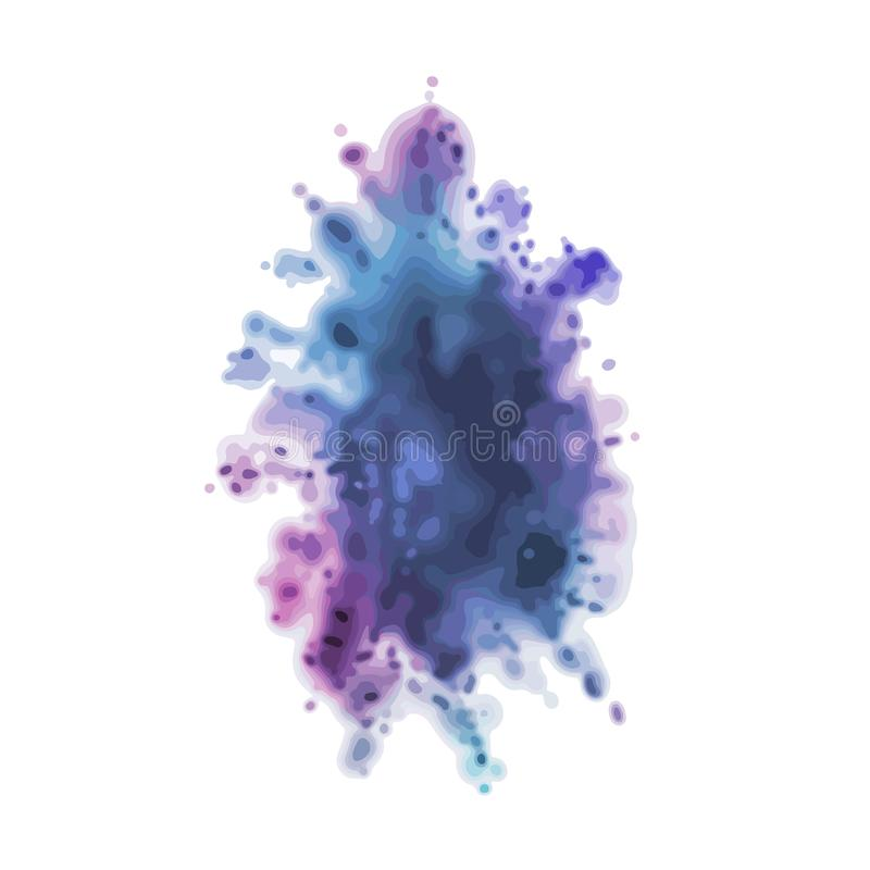 Dust colorful splash. Abstract painting. Ink in water. Happy Holi, Indian spring festival, holiday concept. Vector element. Dust colorful splash. Abstract royalty free illustration