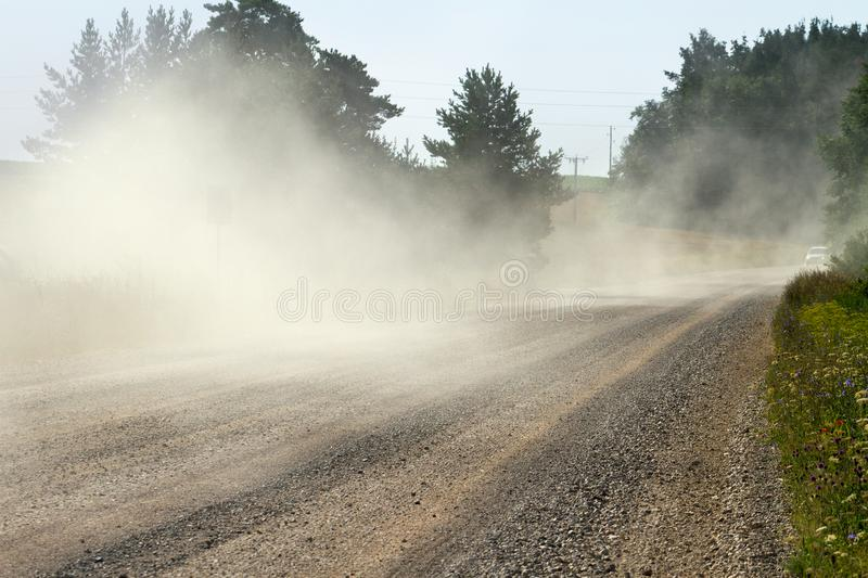 Dust country road royalty free stock image