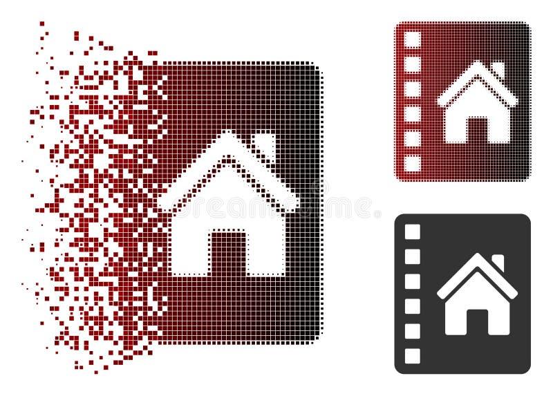 Dust Dot Halftone Realty Catalog Icon vector illustration