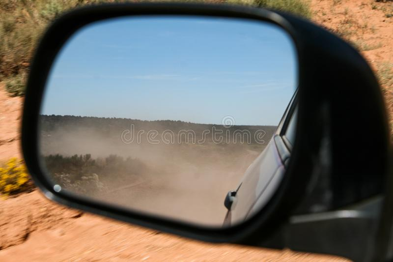 Dust in the mirror stock photos