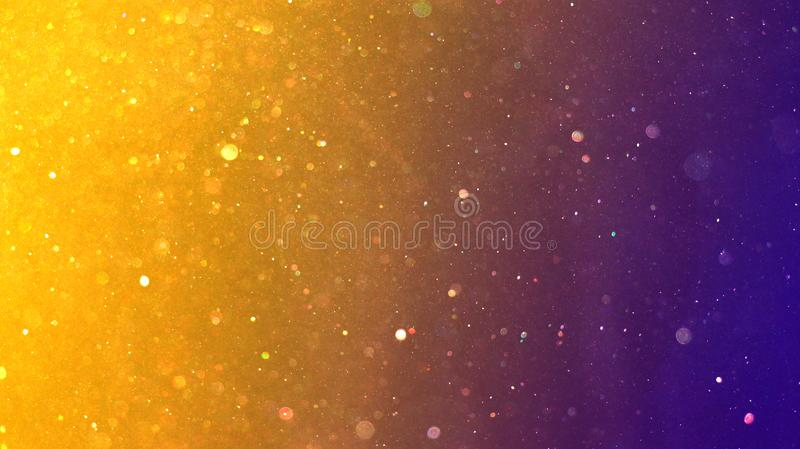 Gold and Purple Dust Particles Christmas New Year Background stock photography