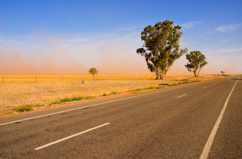 Download Dust storm stock image. Image of distance, road, farmland - 3428197