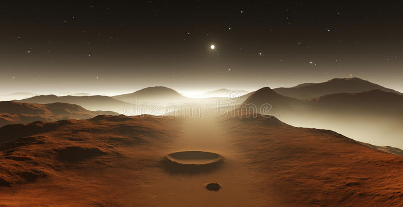Dust storm on Mars. royalty free illustration
