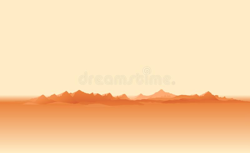 Dust storm on planet Mars stock illustration
