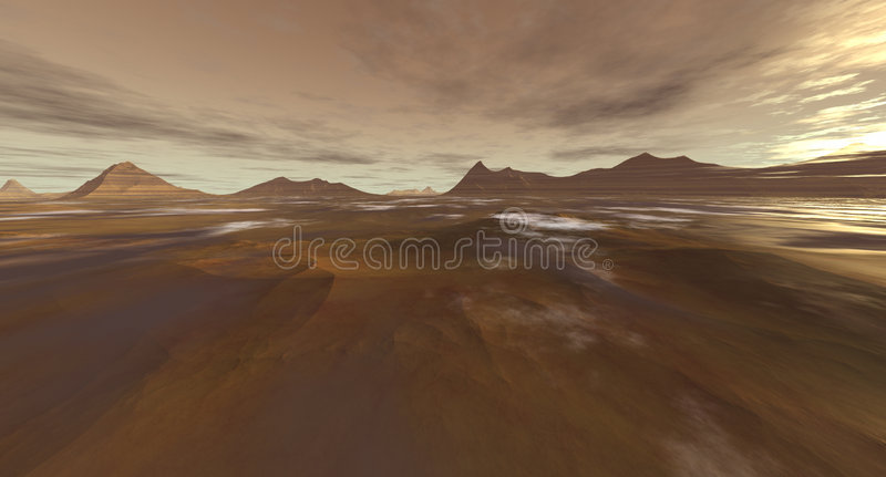Download Dust Storms at Sunrise stock illustration. Illustration of mars - 951282