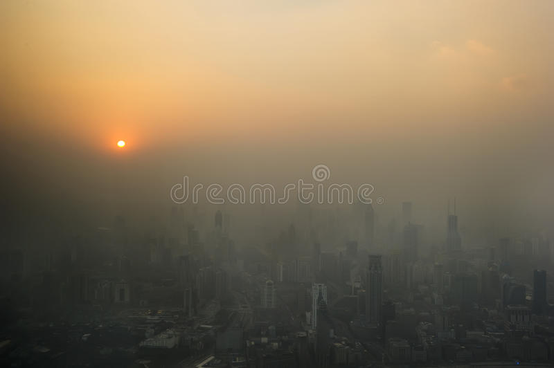 Dust storms the urban royalty free stock photos