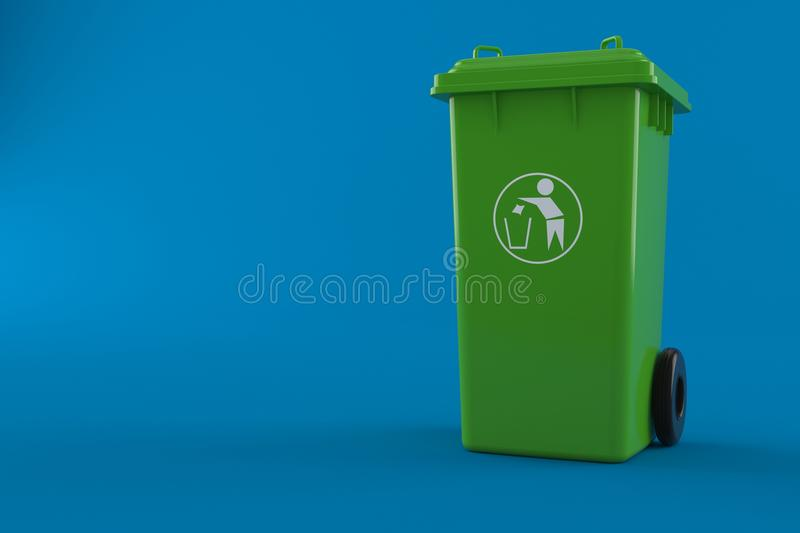 dustbin иллюстрация вектора