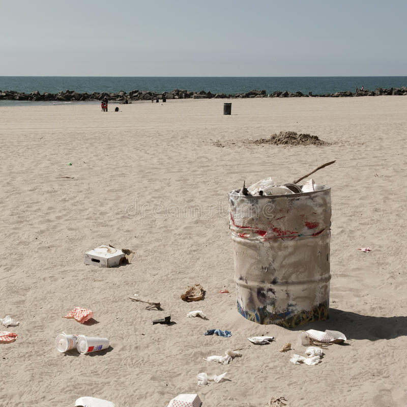 Download Dustbin On Venice Beach, Los Angeles Stock Photo - Image of image, waste: 26425504