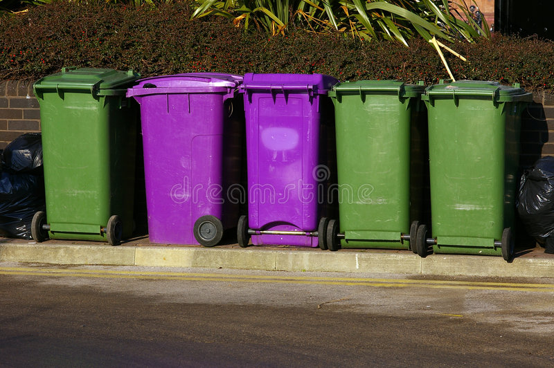 Dustbins 01 stock photos