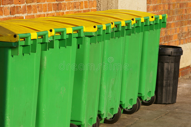 Dustbins 03 Stock Photos