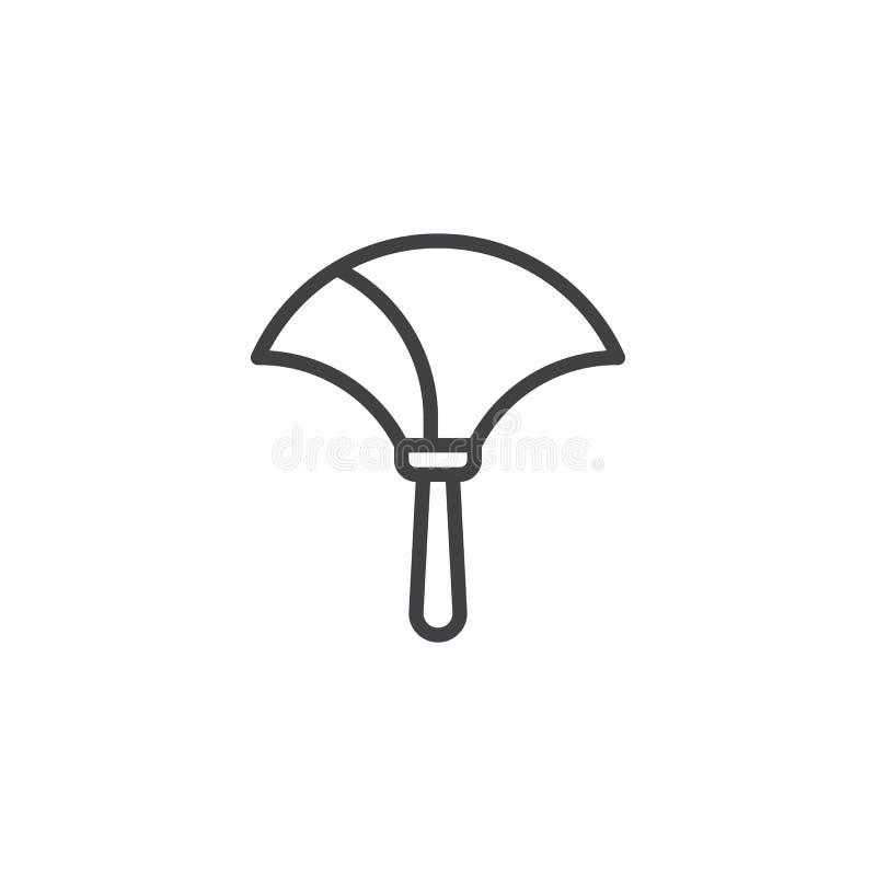 Duster muśnięcia konturu ikona royalty ilustracja
