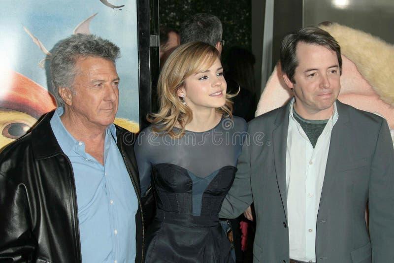Dustin Hoffman,埃玛・华森,马修Broderick 免版税库存图片