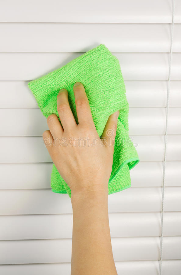 Dusting Window Blinds Stock Image Image Of Domestic