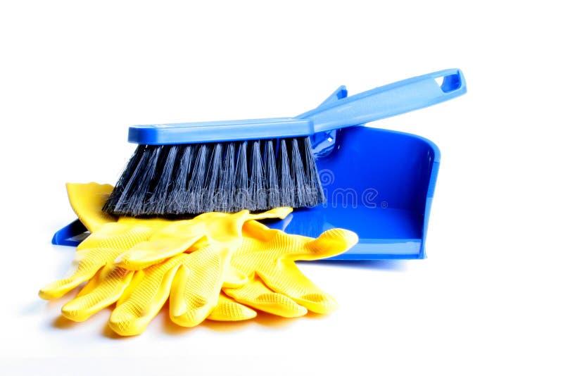 Dustpan e escova foto de stock royalty free