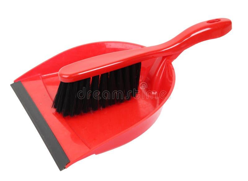 Dustpan e spazzola immagini stock libere da diritti