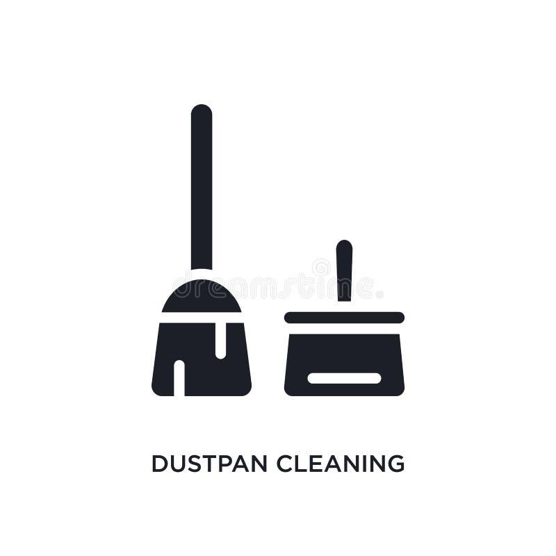 dustpan очищая изолированный значок простая иллюстрация элемента от очищая значков концепции dustpan очищая editable знак логотип бесплатная иллюстрация