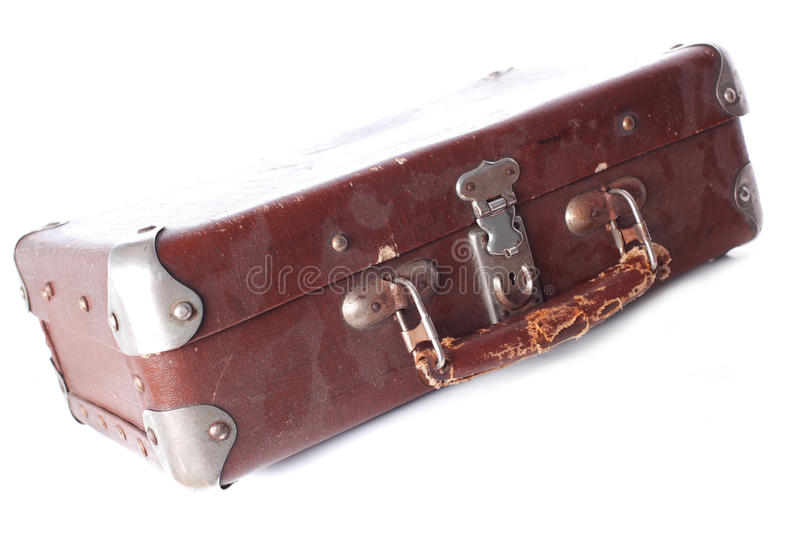 Download Dusty Brown Leather Suitcase Stock Image - Image of rusty, distressed: 19006817