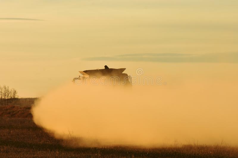 Dusty Combine Harvester fotografia de stock royalty free