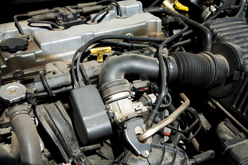 Dusty engine stock image