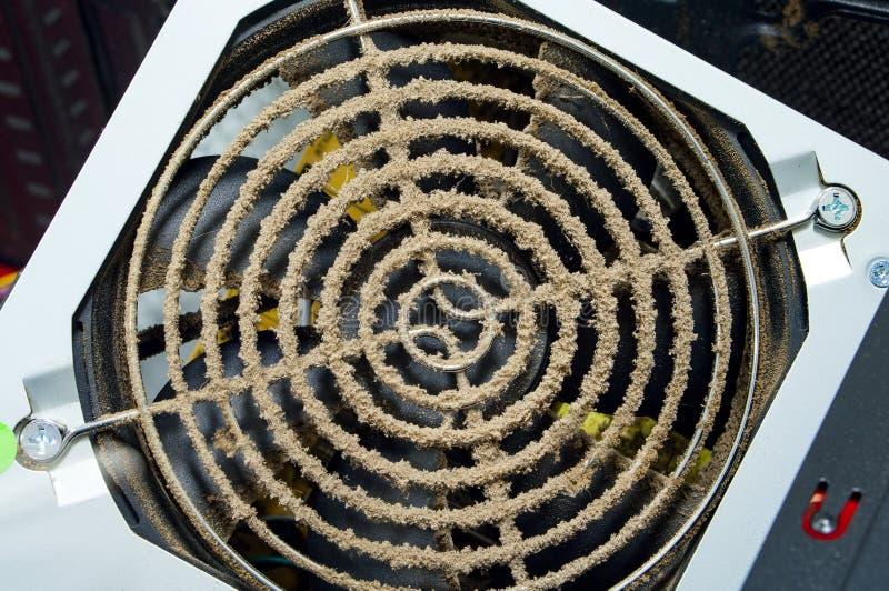 Dusty fan grille. stock images